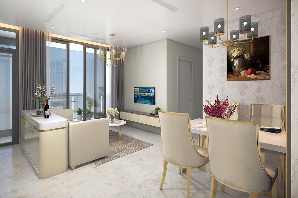 Sử dụng gam màu trung tính trong thiết kế nội thất chung cư diện tích nhỏ